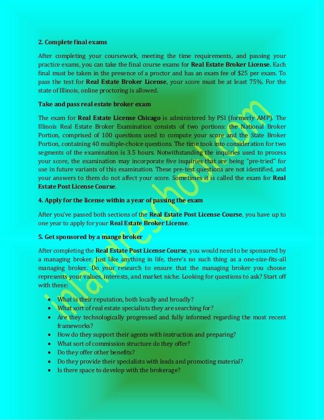 Real Estate Broker License Real Estate Post License Course