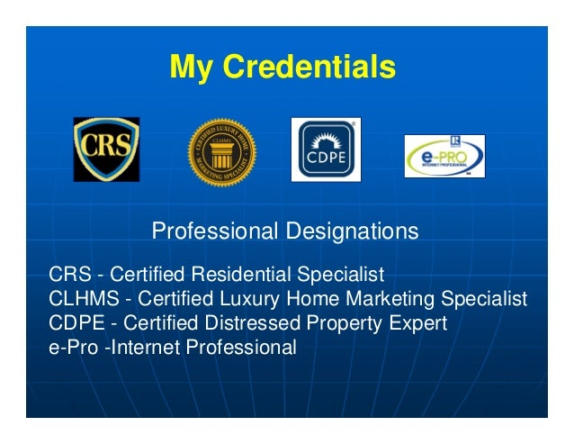Certified Luxury Home Marketing Specialist Designation Home Institute For Luxury Home