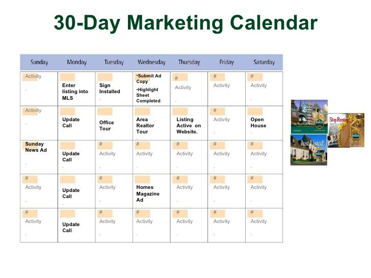 17 30 day marketing calendar