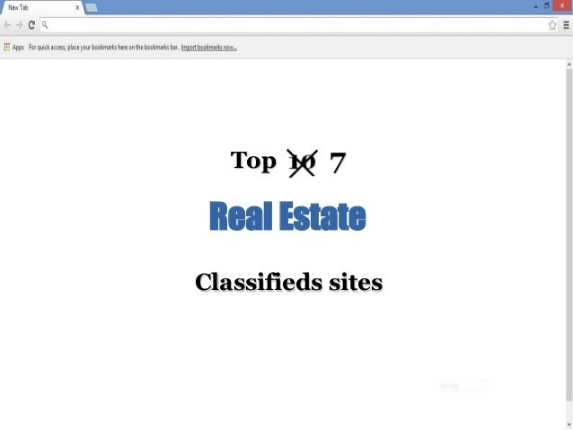 Top  7  Real Estate Classifieds sites