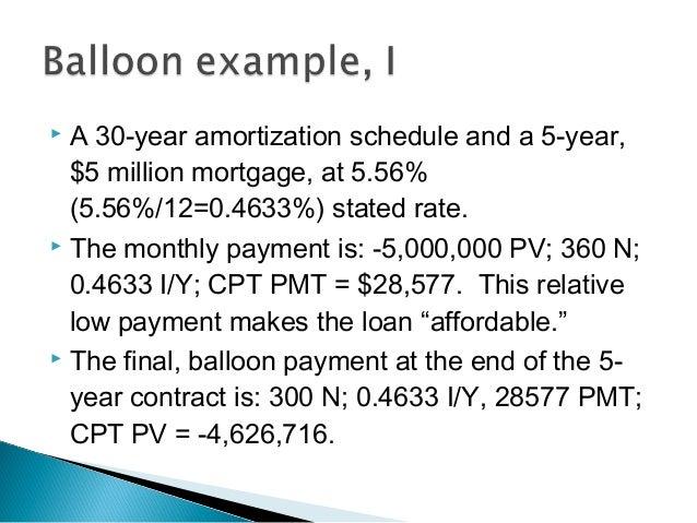 balloon mortgage august 2017