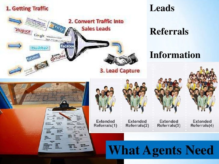 Leads      Referrals      InformationWhat Agents Need
