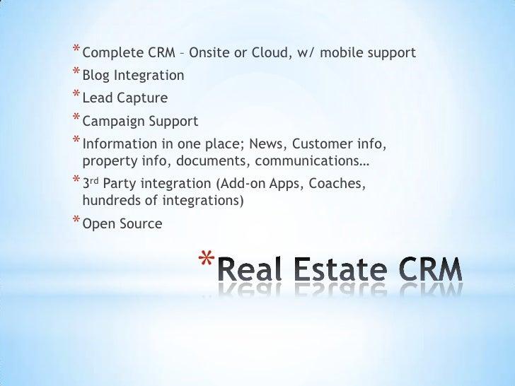 Real estate crm presentation 122011