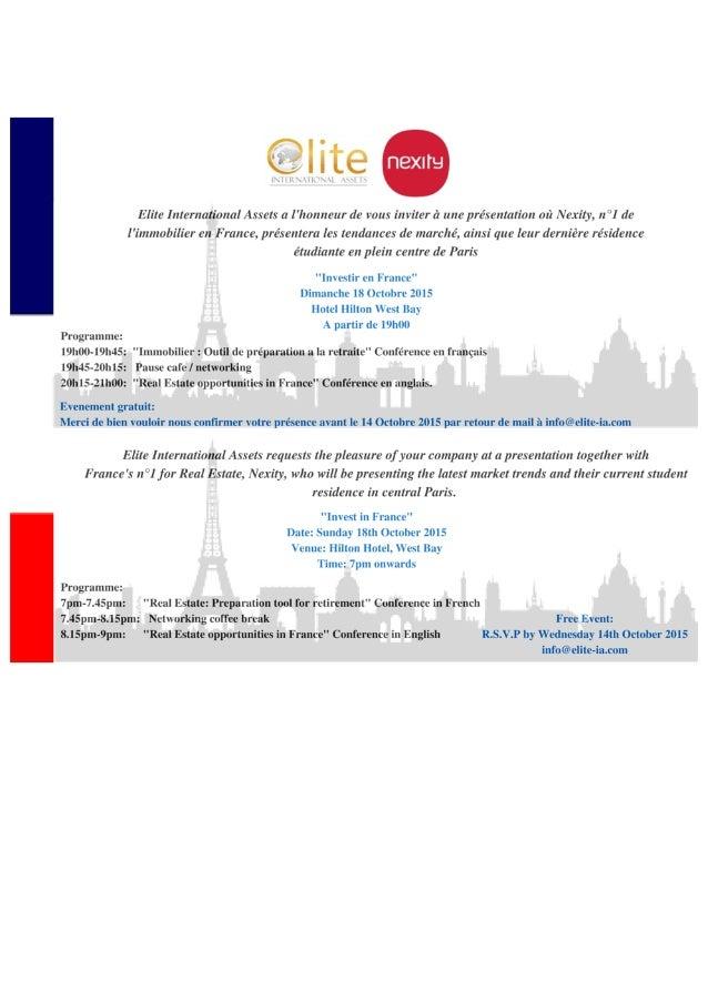 invitation for real estate event in doha qatar