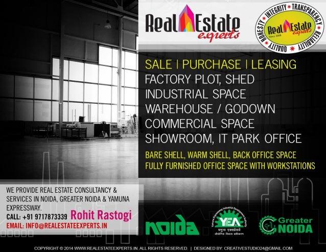 Industrial Plots, Factory, Sheds, Warehouse at Noida, Greater Noida & Yamuna Expressway call +91 9717873339