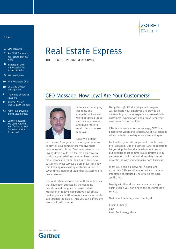 Issue 2    1 CEO Message  2 Are CRM Platforms    Real Estate Express®                                     Real Estate Expr...
