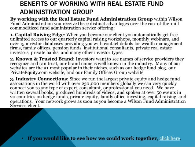 Real estate fund administration services - Family office real estate ...