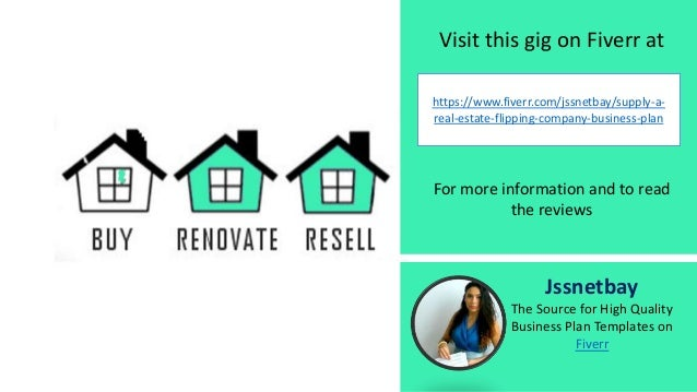 Real Estate House Flipping Business Plan Template And