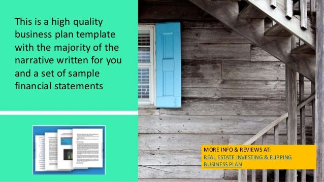 Real Estate House Flipping Business Plan Template And Start Up Packa