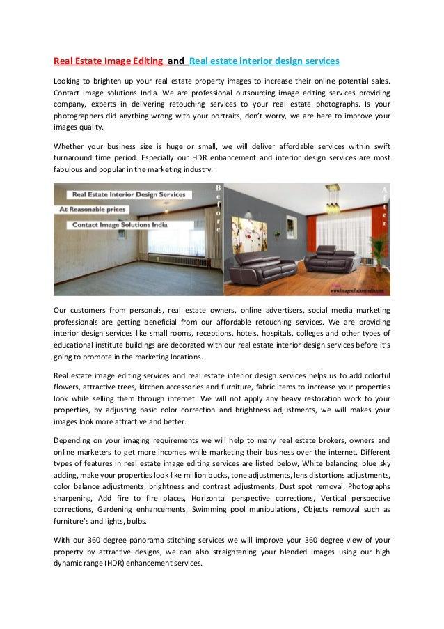 Real Estate Image Editing And Real Estate Interior Design