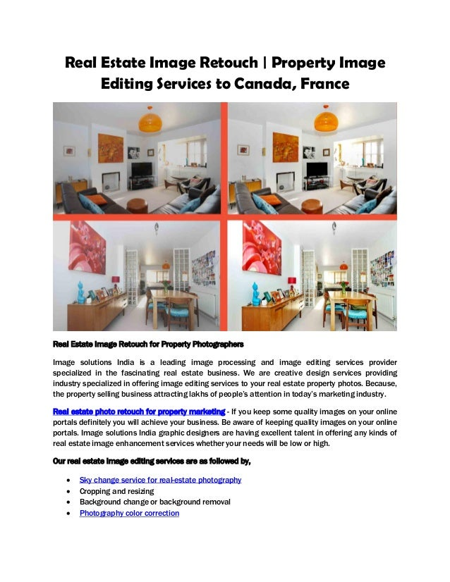 Real estate image retouch property image editing services to