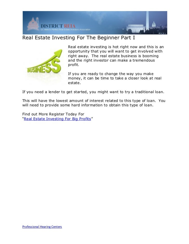 Real Estate Investing For The Beginner Part I                               Real estate investing is hot right now and thi...