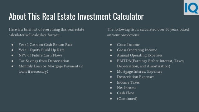 Real estate Investment Calculator | Rental Property Calculator