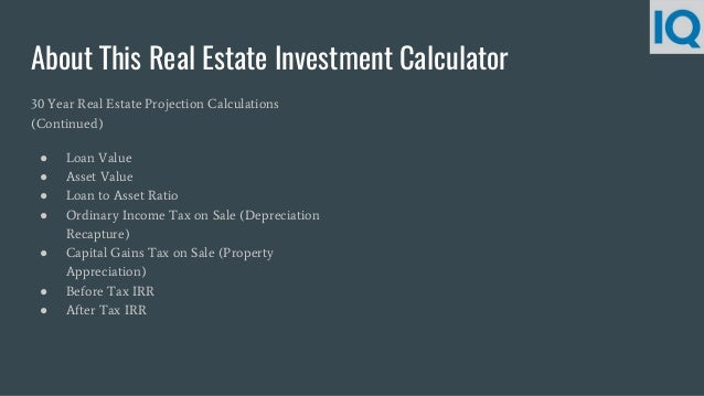 real estate investment calculator rental property calculator