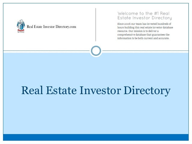 Real estate investor directory - Family office real estate ...