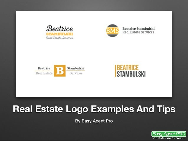 Real Estate Logo Examples And Tips By Easy Agent Pro