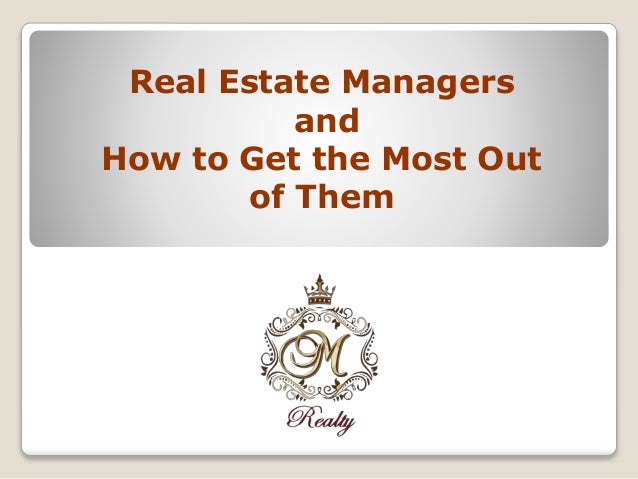 how to become a real estate manager