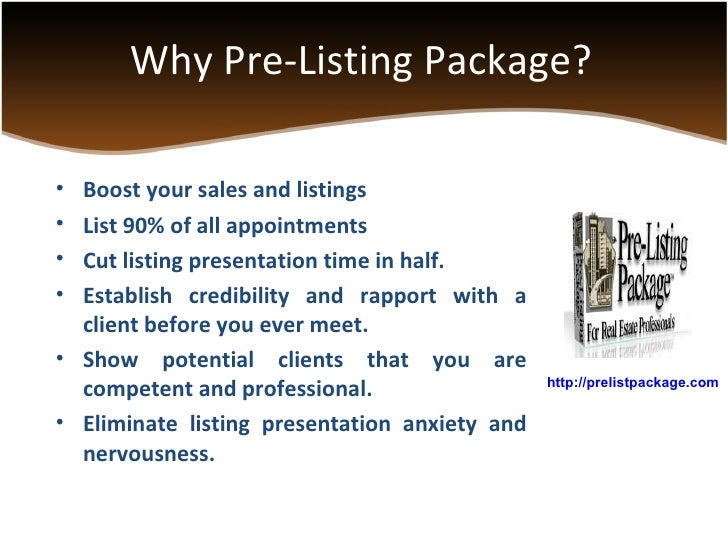 real estate listing appointment presentation