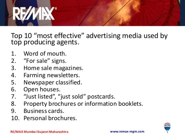 Real estate marketing basics for an agent..