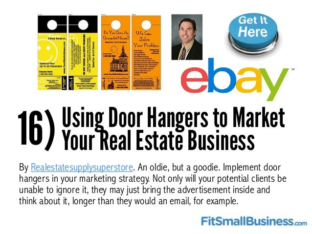 25 Real Estate Marketing Ideas The Pro's Use