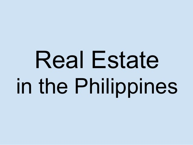 Real Estate in the Philippines