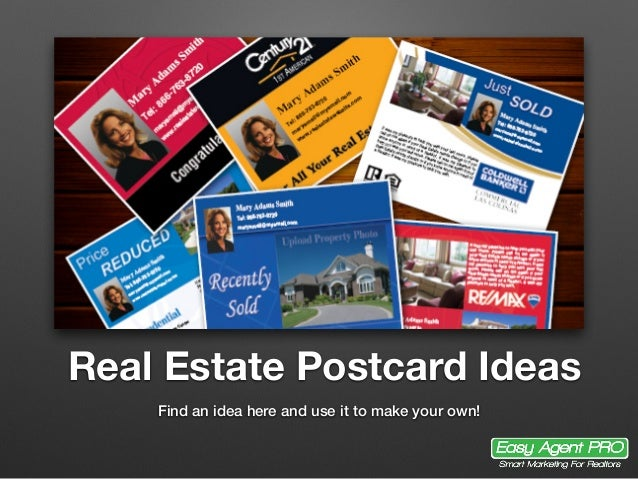 Real Estate Postcard Ideas Find an idea here and use it to make your own!