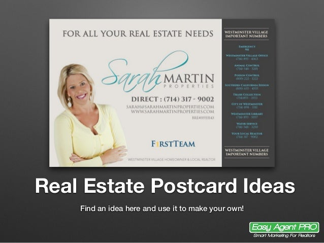 20+ Real Estate Postcard Ideas