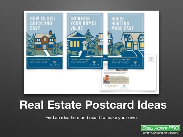 20 real estate postcard ideas for Ideas on a postcard