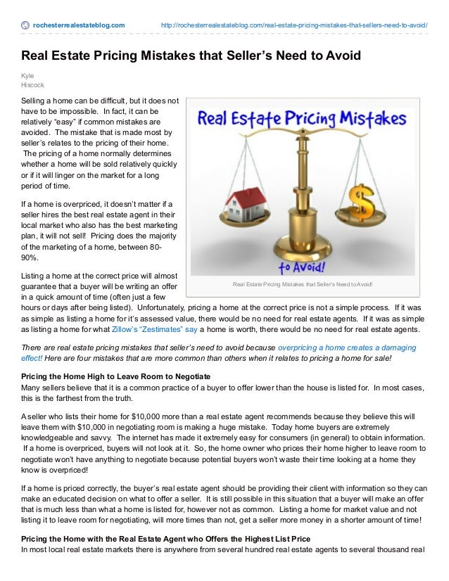 rochesterrealestateblog.com http://rochesterrealestateblog.com/real-estate-pricing-mistakes-that-sellers-need-to-avoid/  R...