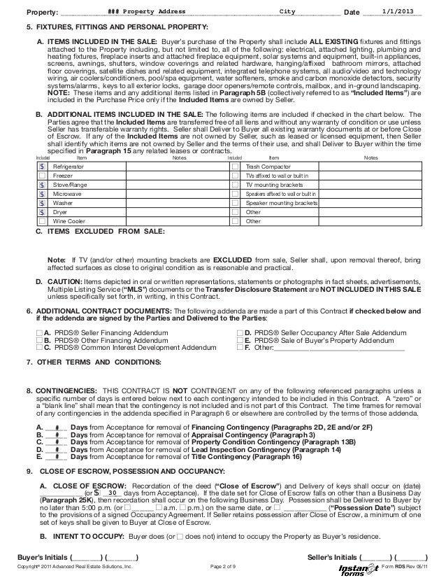 Offer To Purchase Real Estate Form Indiana Peopledavidjoel