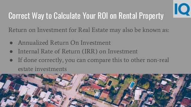 rental property return on investment