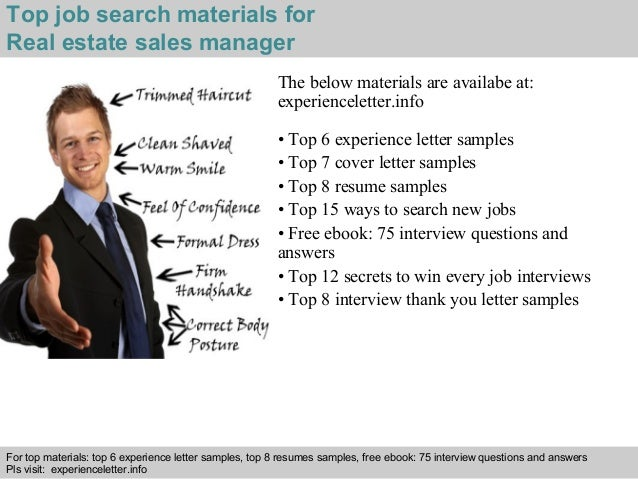 4 top job search materials for real estate - Cover Letter For Real Estate Job