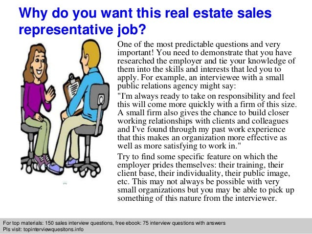 Real estate sales representative interview questions and ...