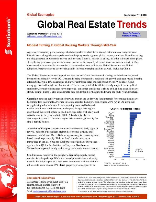 Adrienne Warren (416) 866-4315 adrienne.warren@scotiabank.com Global Economics GlobalRealEstateTrends Global Real Estate R...