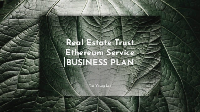 Real Estate Trust Ethereum Service BUSINESS PLAN Tae Young Lee