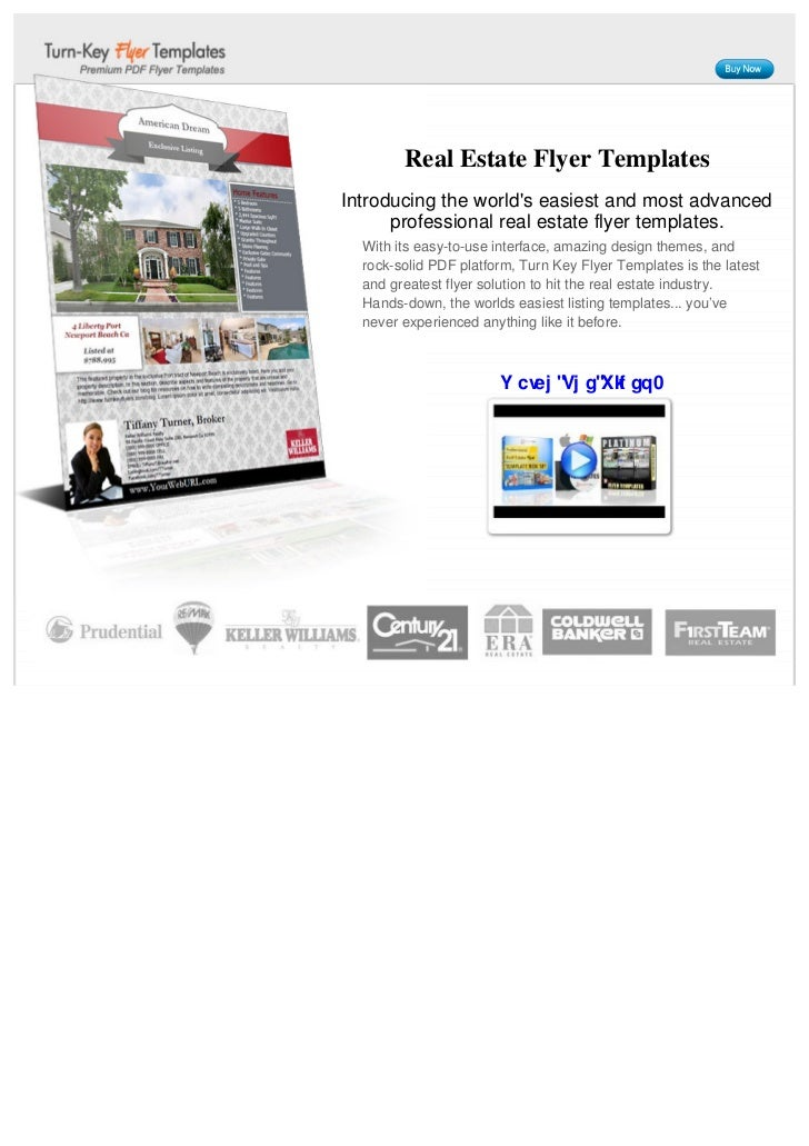 Real Estate Flyer TemplatesIntroducing the worlds easiest and most advanced      professional real estate flyer templates....