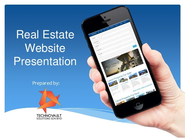 real estate website presentation