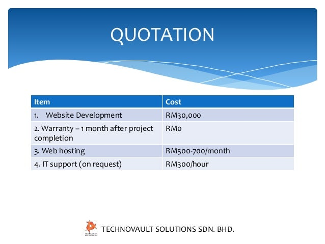 Real estate website presentation – Website Quotation