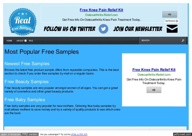 Freebies for women free samples