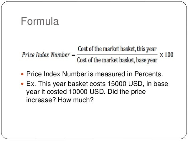 calculating consumer price index example pdf