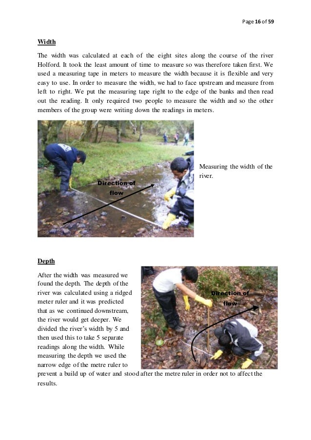 Geography gcse river coursework