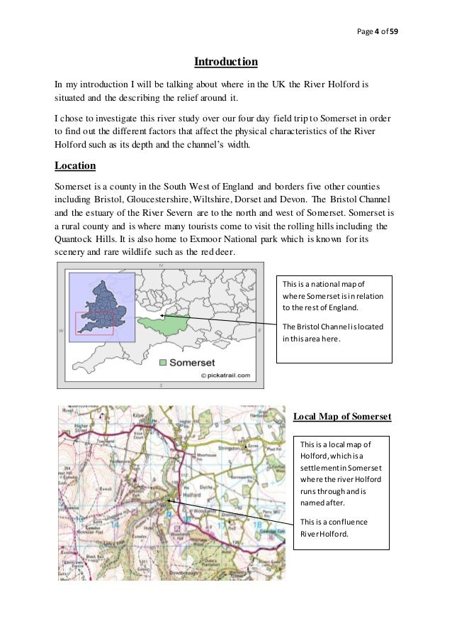 geography coursework river study Igcse and gcse geography coursework (paper 4) possible topics and areas of study may include: rivers changes in river velocity from source to mouth.