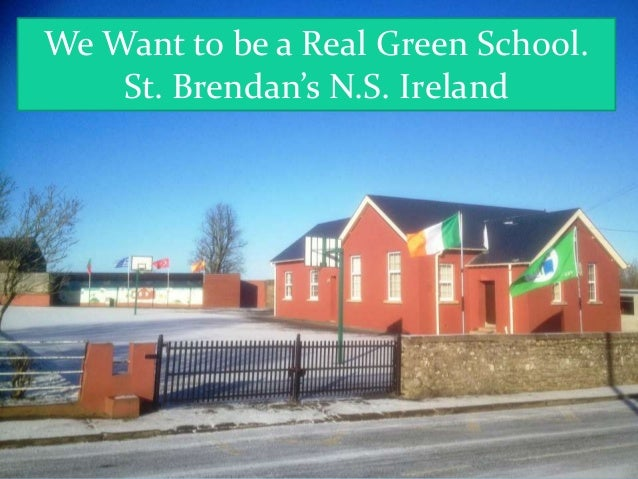 We Want to be a Real Green School.    St. Brendan's N.S. Ireland