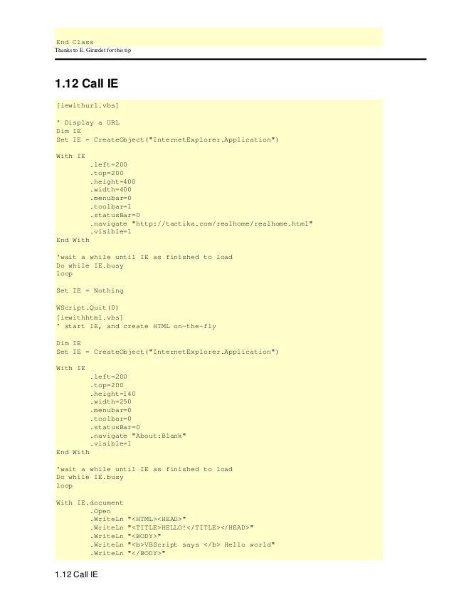 Vbscript Open Url In New Window