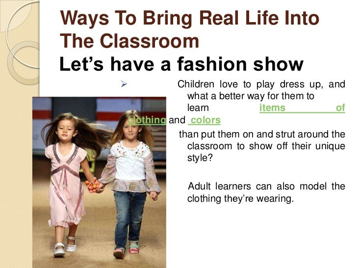 Ways To Bring Real Life IntoThe ClassroomCelebrate the holidays   Learning English is not only about learning to speak in...