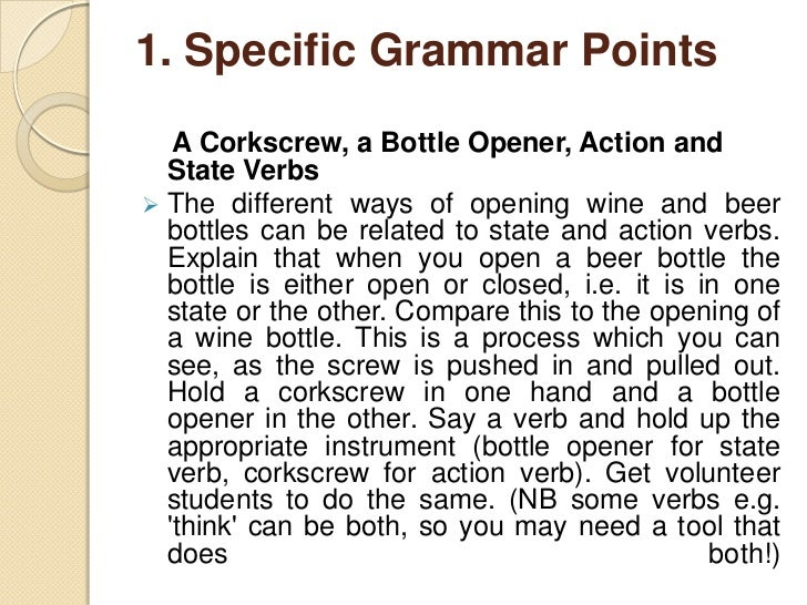 1. Specific Grammar Points  A Pencil Sharpener and Reduced Relatives  Clauses Again, metaphor can make the unfamiliar mor...