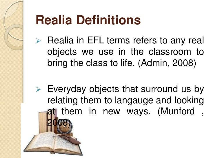 realia teaching strategy