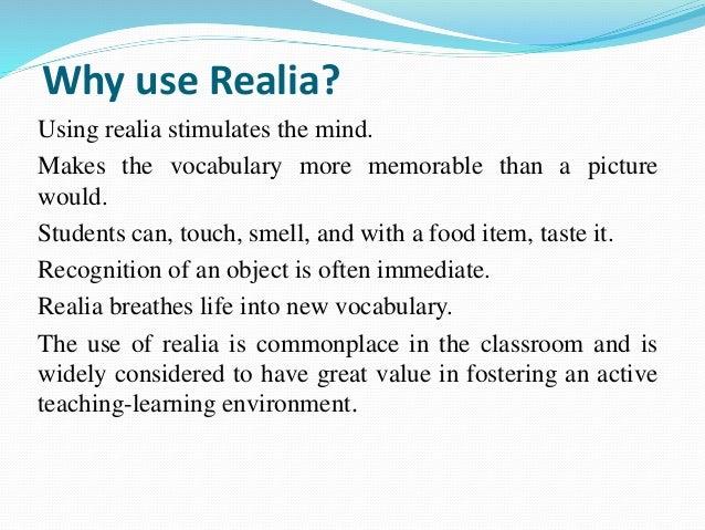 using realia in the classroom