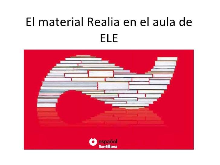El material Realia en el aula de ELE