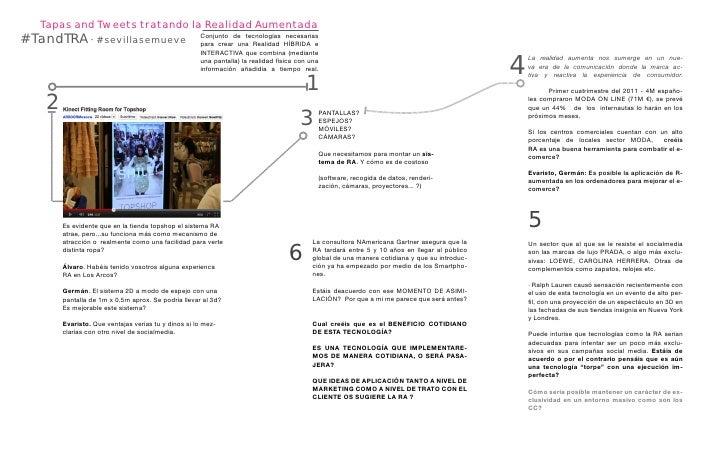 Tapas and Tweets tratando la Realidad Aumentada#TandTRA · #sevillasemueve                           Conjunto de tecnología...